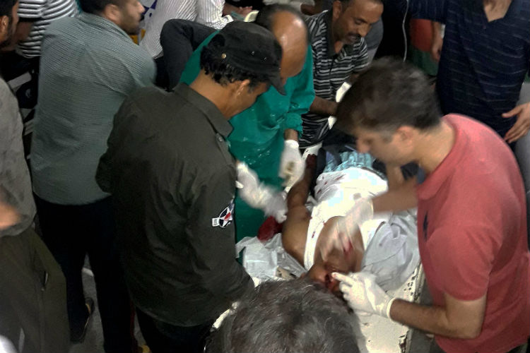 Injured being treated in a hospital after militants opened fire (Photo: PTI)