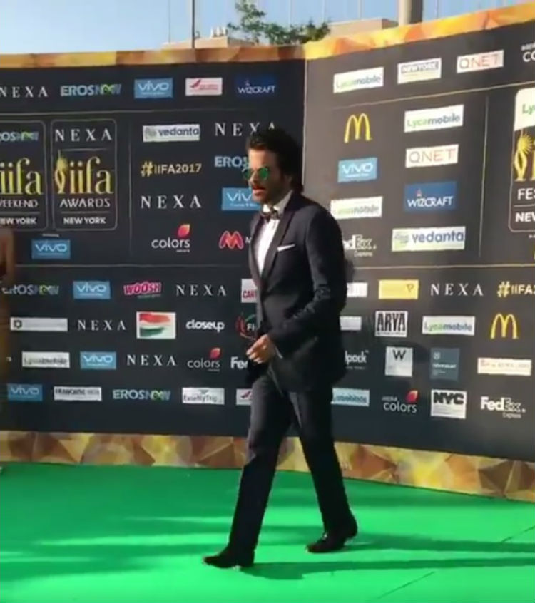 Anil Kapoor at IIFA 2017 green carpet