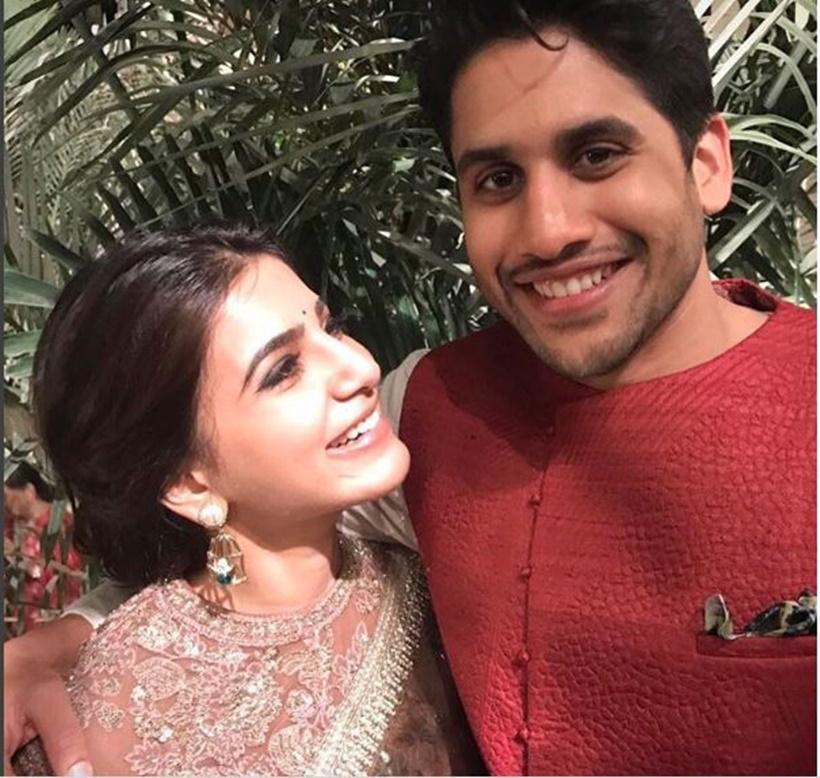 Samantha Prabhu and Naga Chaitanya at the latter's brother's engagement