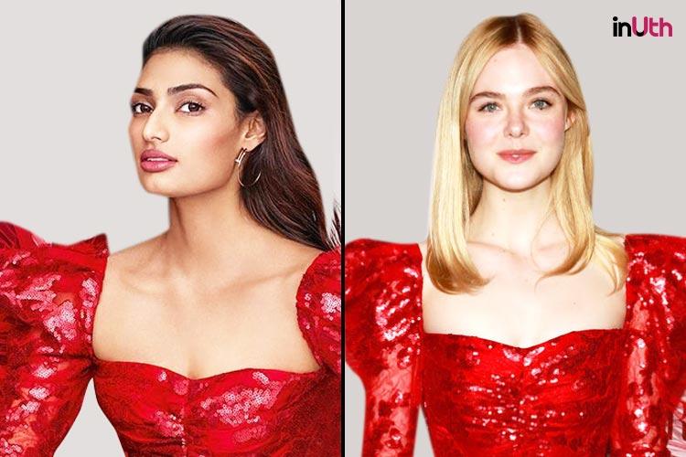 Athiya Shetty and Elle Fanning in Rodarte ensemble