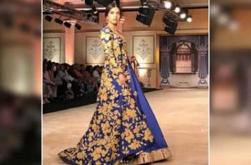 Bhumi Pednekar walks the ramp at ICW 2017 photo
