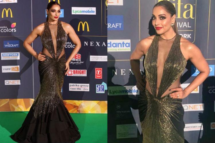 Bipasha Basu in a Gaurav Gupta gown at IIFA 2017