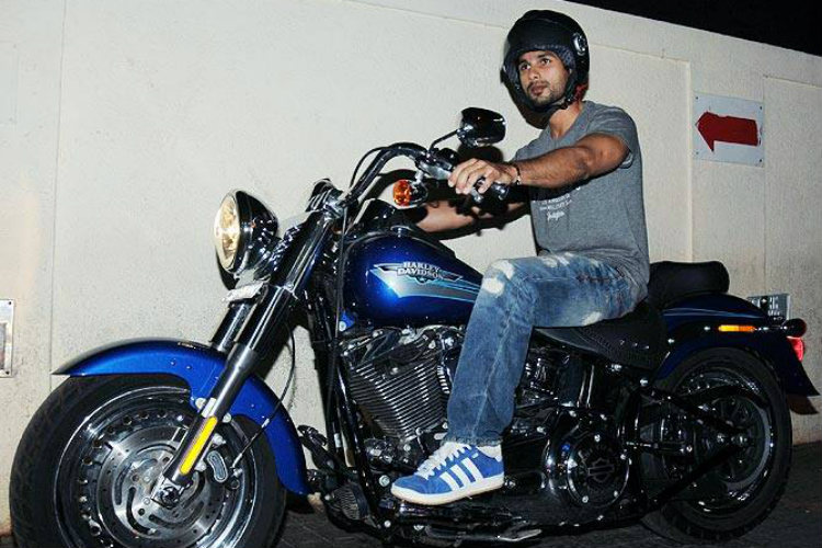 Shahid Kapoor on his Harley Davidson