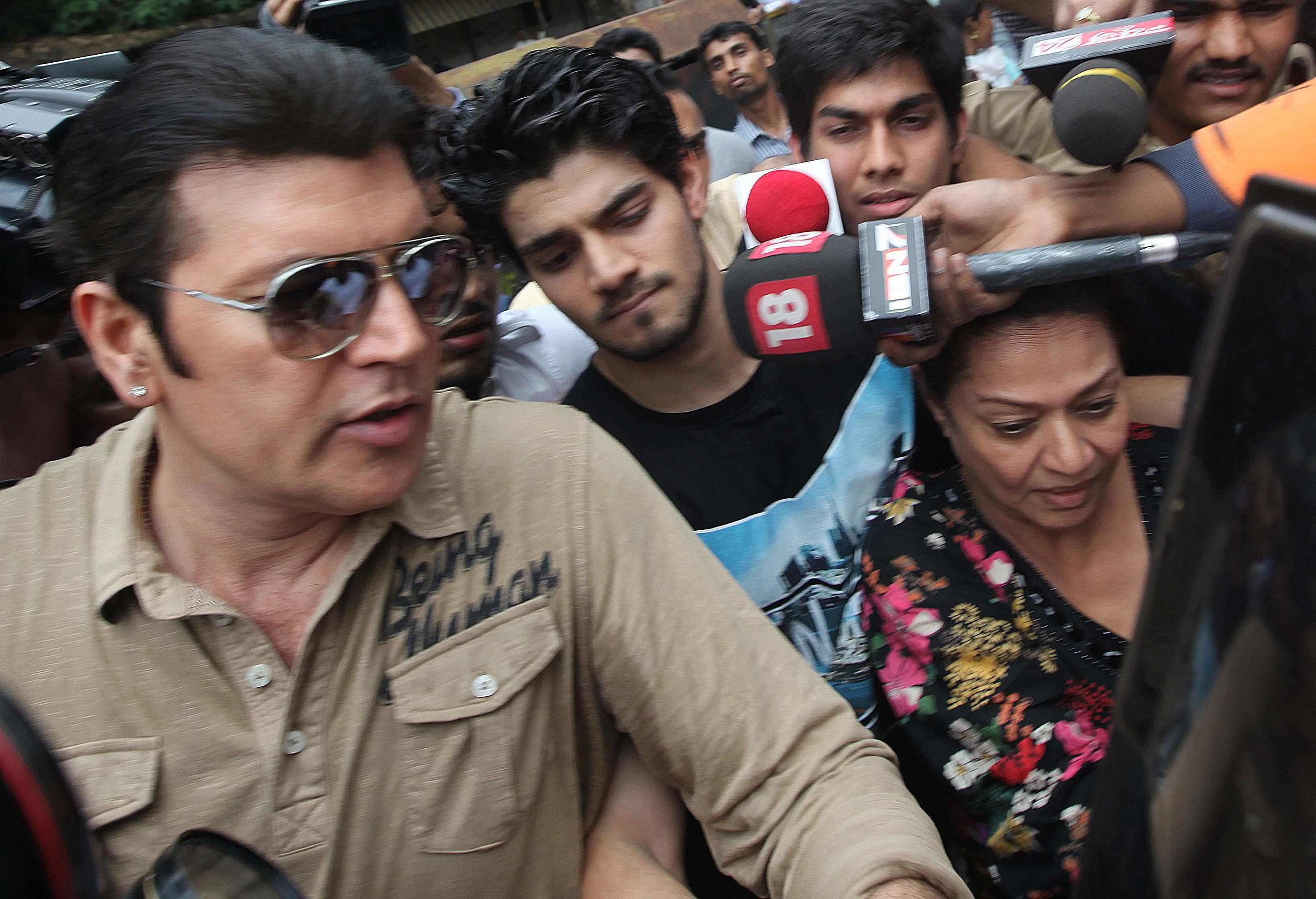 Aspiring Bollywood actor Suraj Pancholi, the son of Bollywood acting couple Aditya Pancholi and Zarina Wahab, released from Arthar road jail three weeks after being arrested over a possible role in the suicide of his actress girlfriend Jiah Khan. Express photo by Ganesh Shirsekar, 02-07-2013. Mumbai