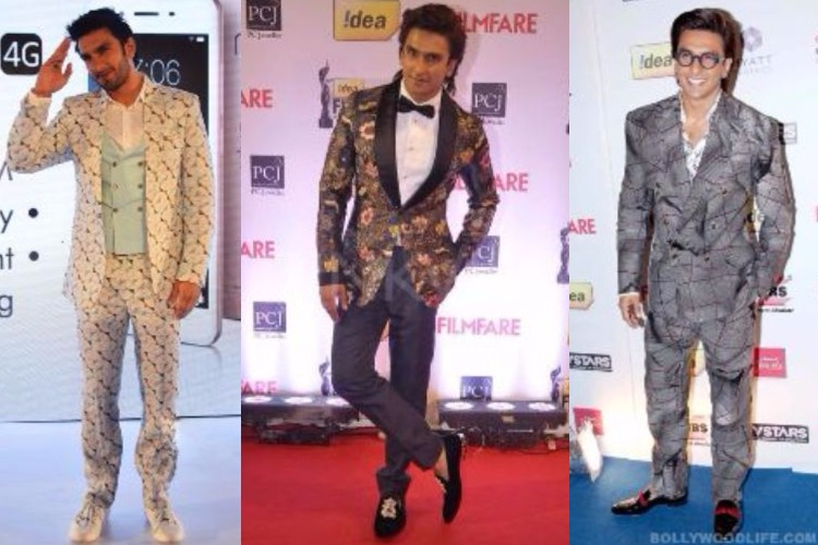 Ranveer Singh in suits up in whacky prints
