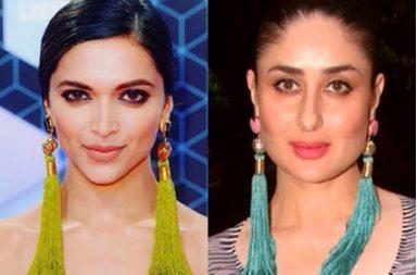 Deepika Padukone, Kareena Kapoor in silk tassel earrings