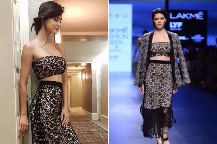 Disha Patani black dress IIFA 2017