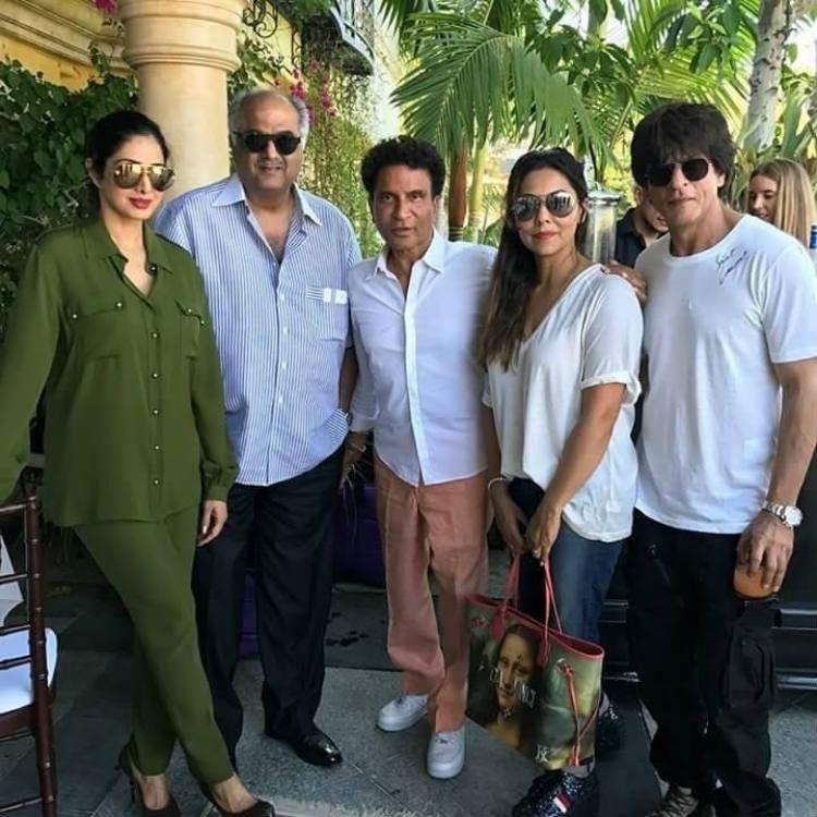 Gauri Khan with Shah Rukh Khan, Sridevi and Boney Kapoor