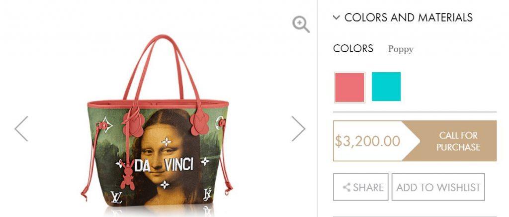 Louis Vuitton's Da Vinci tote bag