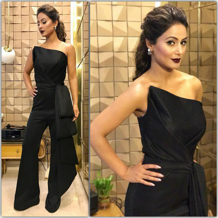 Hina Khan during the promotions of Khatron Ke Khiladi