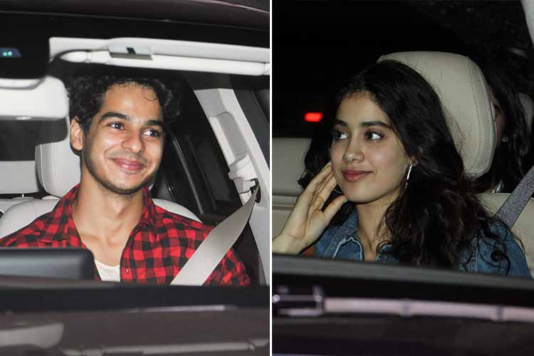 Jhanvi Kapoor and Ishaan Khattar at Mom screening photo