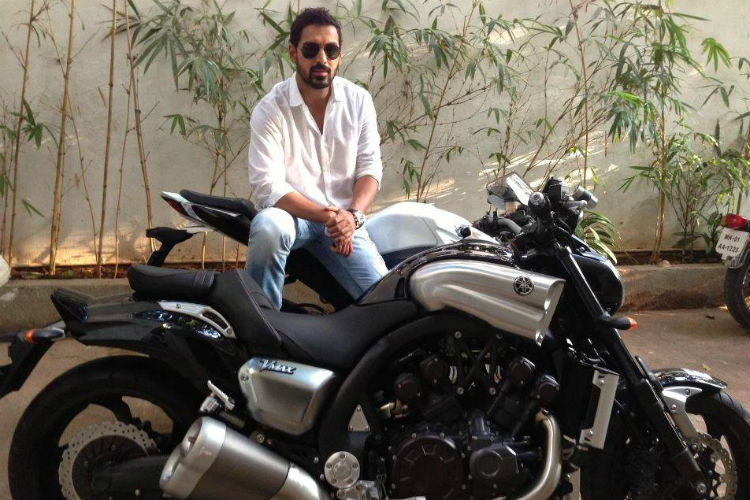 John Abraham with his Yamaha V-Max