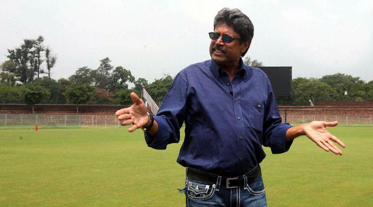 Kapil Dev during Walk the Talk at the Sector 16 cricket stadium in Chandigarh. *** Local Caption *** Kapil Dev during Walk the Talk at the Sector 16 cricket stadium in Chandigarh. Express photo by Kamleshwar Singh / Chandigarh