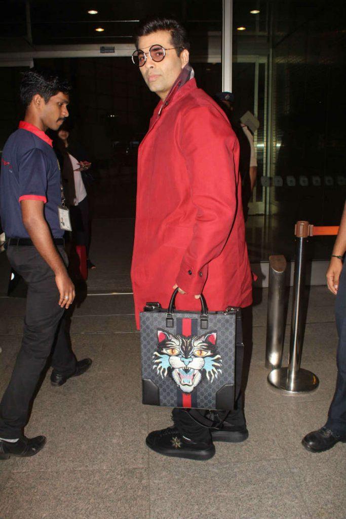 Karan Johar at the airport