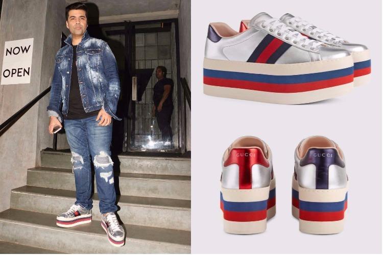 Karan Johar at Jitesh Pillai's birthday bash wearing Gucci sneakers