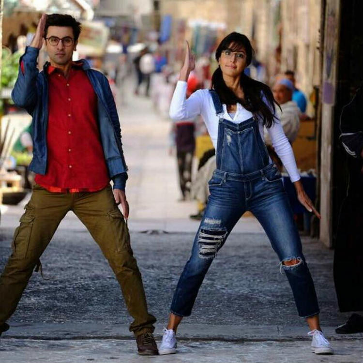 Katrina Kaif and Ranbir Kapoor in a still from Jagga Jasoos