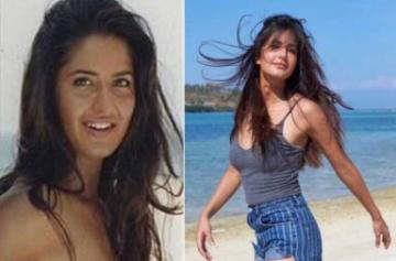 Katrina Kaif then and now pics