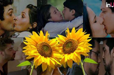 Kiss Day, Bollywood kisses, hot kisses in Bollywood, liplocks in Bollywood movies, first kiss in Bollywood, Aamir Khan Juhi Chawla kiss, Madhuri Dixit Vinod Khanna kiss, bollywood steamy scenes, Bollywood first kiss, flower kissing, Shah Rukh khan kiss, Shah Rukh khan first kiss