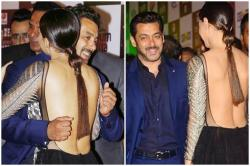 Salman Khan met Sana Khan at an award function but seemed too shy to even hug her properly -- See Photos