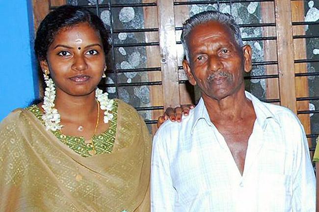 Preethi with her father. Photo credits: Preethi Madami