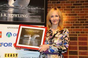 JK Rowling accepting the Hans christian international award