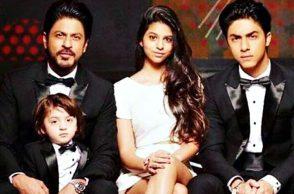 Shah Rukh Khan, Aryan, AbRam, Suhana