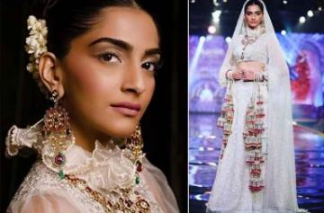 Sonam Kapoor walks the ramp for Abu Jani Sandeep Khosla photo