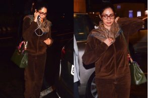 Sridevi at the airport