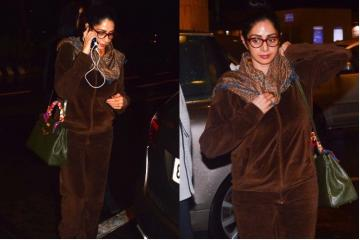 Sridevi's velvet track suit is something you would never like to spend a single penny on