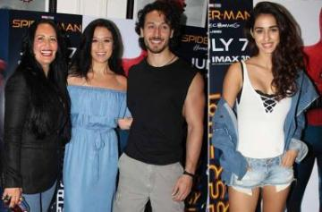 Tiger Shroff and Disha Patani at Spider-Man screening photo