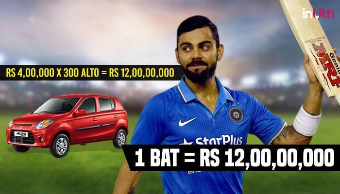 Virat Kohli's bat price