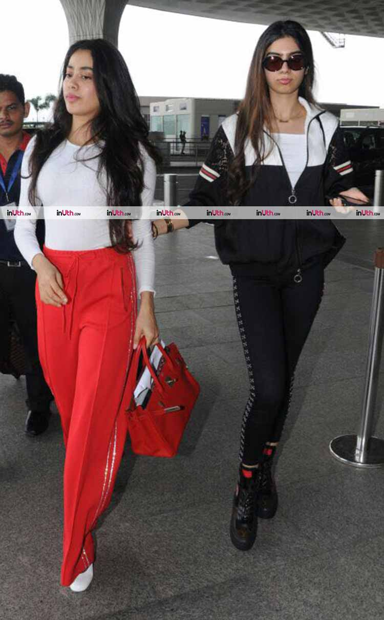 Jhanvi and Khushi Kapoor are airport fashion goals