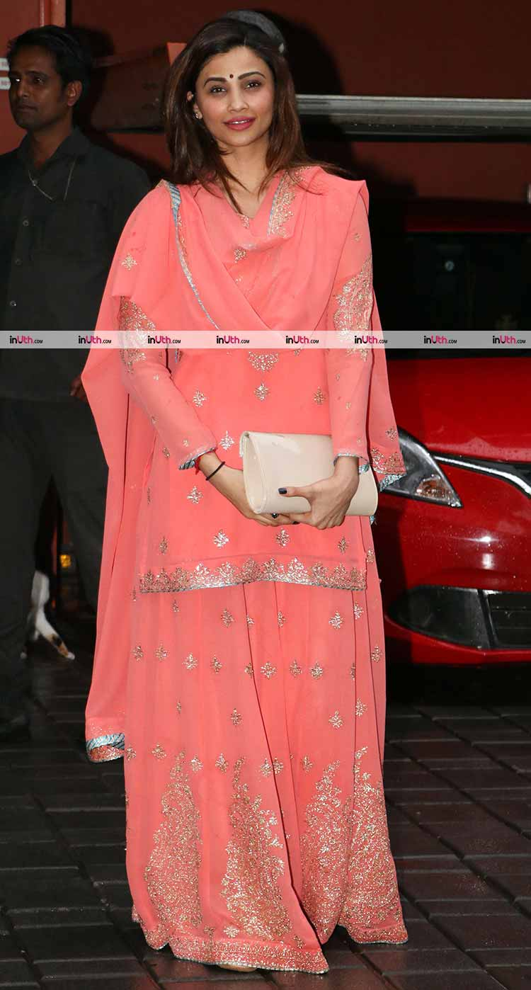 Daisy Shah spotted at Arpita Khan's Ganesh Utsav celebrations