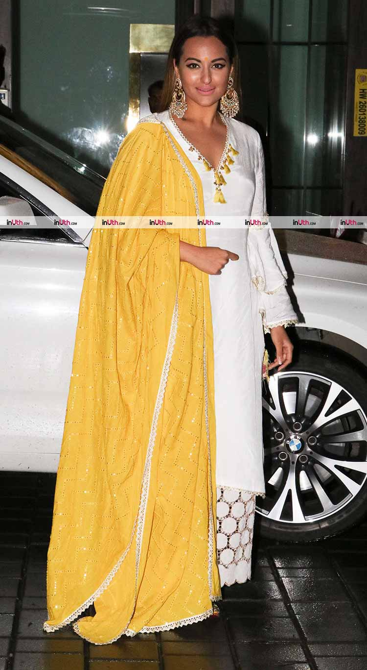 Sonakshi Sinha at Arpita Khan's Ganesh Utsav celebrations