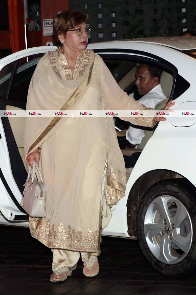 Helen at Arpita Khan's house for Ganesh Utsav celebrations