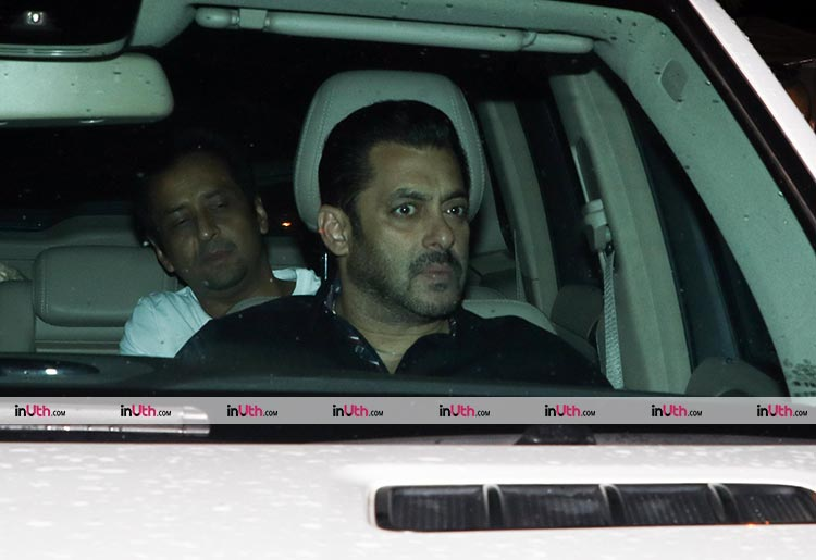 Salman Khan clicked outside Arpita Khan's house