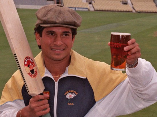 Sachin likes an occasional beer.