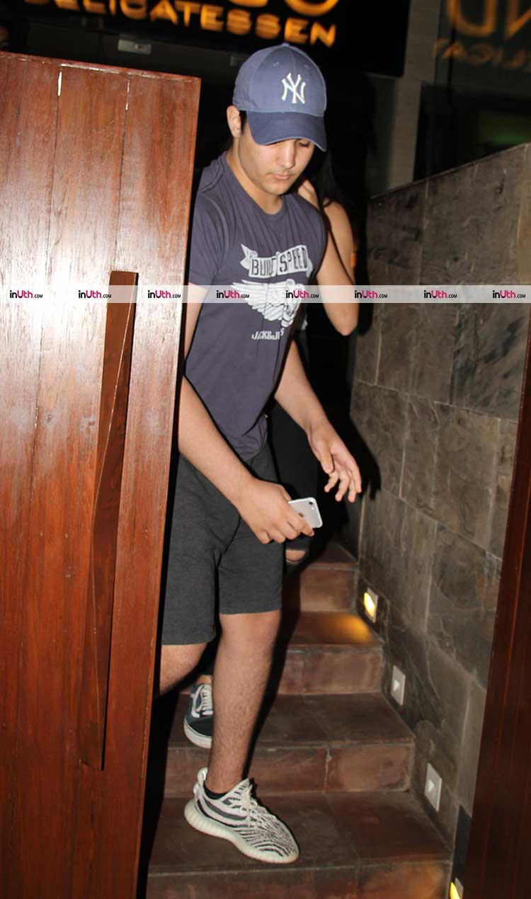 Aarav Bhatia spotted with a female friend on Thursday night