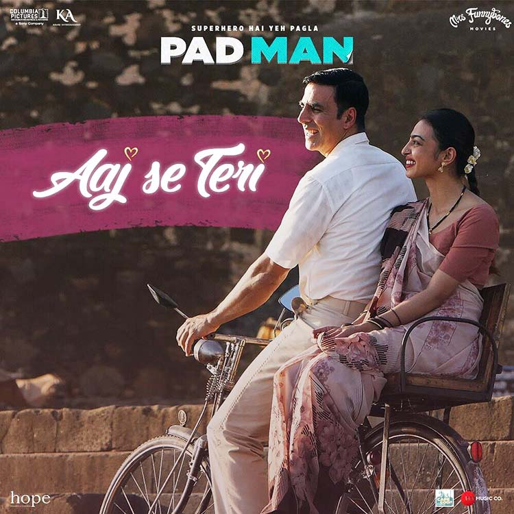 Akshay Kumar and Radhika Apte look adorable in this PadMan poster
