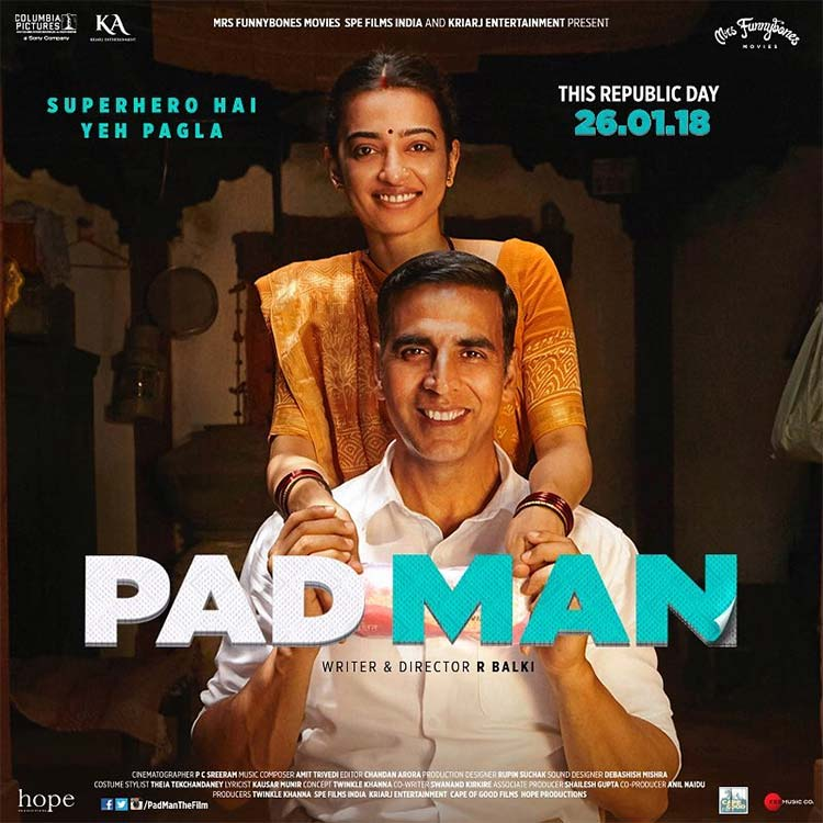 Akshay Kumar and Radhika Apte on the new poster of PadMan