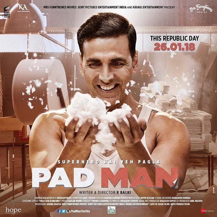 Akshay Kumar looks promising in the new PadMan poster