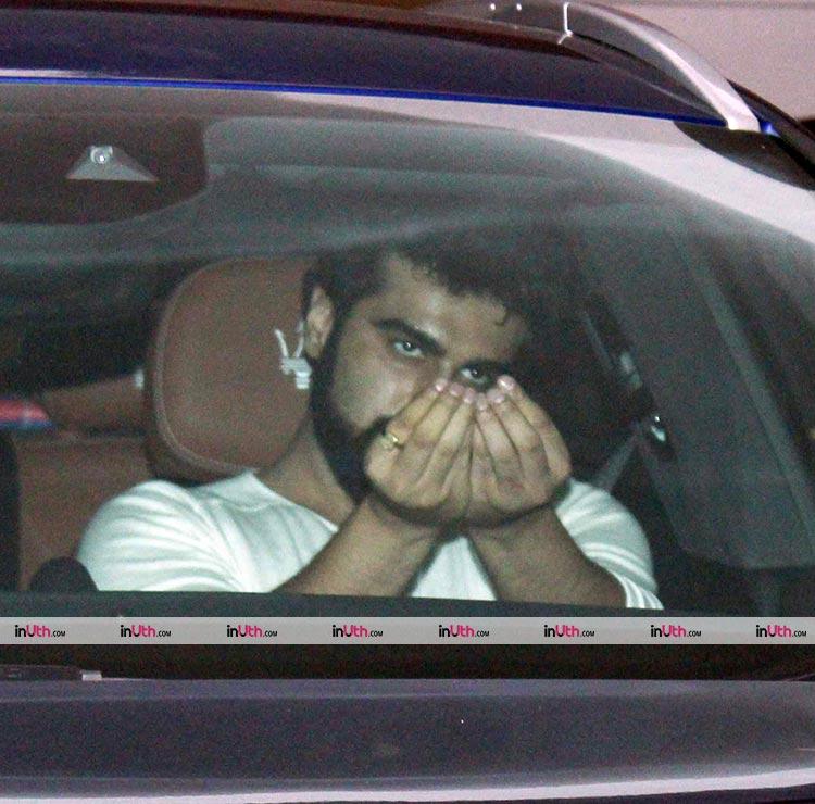 Arjun Kapoor paid a late night visit to Karan Johar