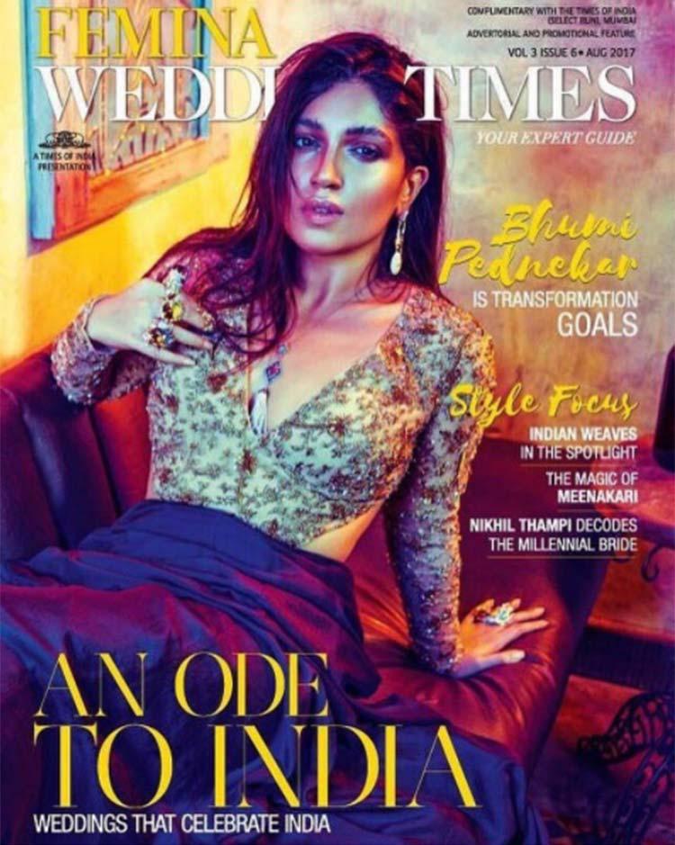 Bhumi Pednekar looks like a dream on the Femina Wedding Times cover