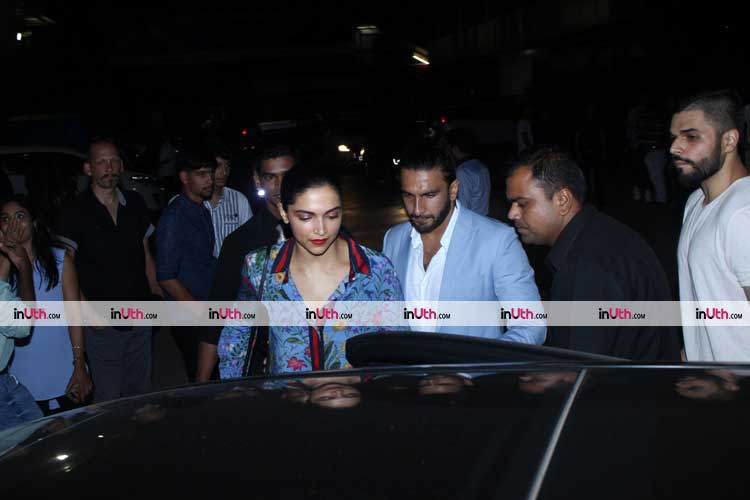 Deepika Padukone and Ranveer Singh spotted on a dinner date
