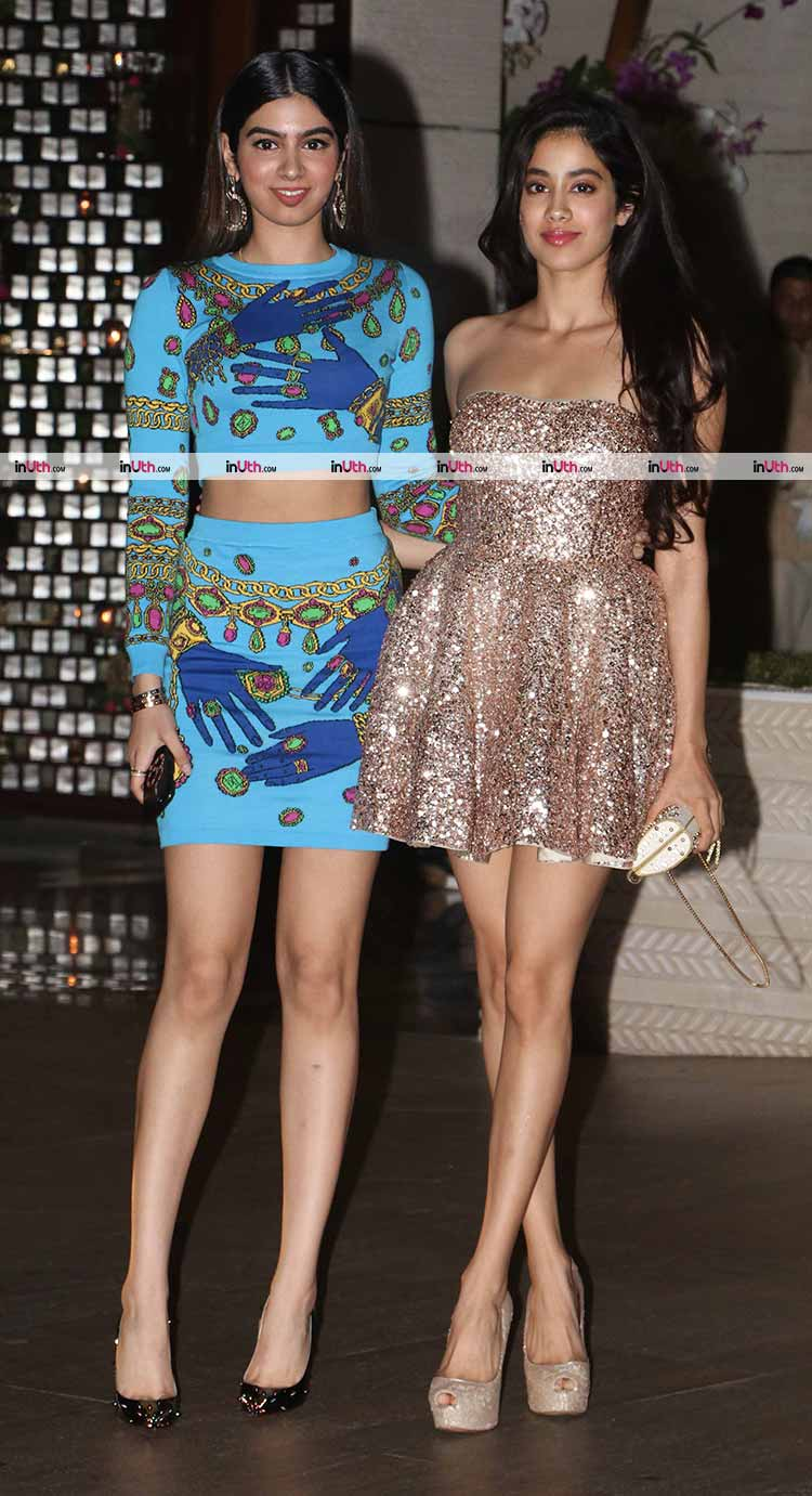 Jhanvi and Khushi Kapoor at Ambani's party on Saturday