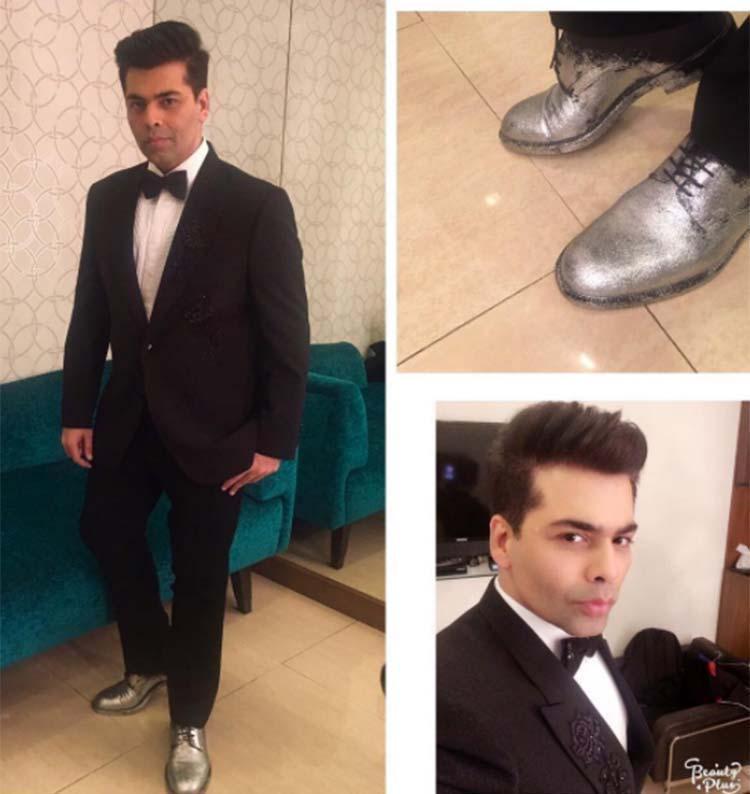 Karan Johar's silver shoes for Big Zee Entertainment Awards