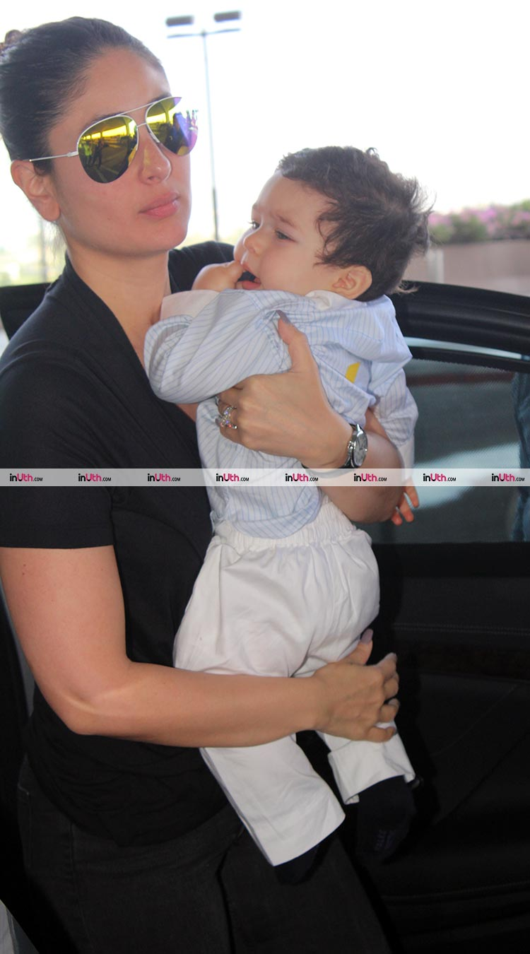 Kareena Kapoor and Taimur spotted at the Mumbai airport