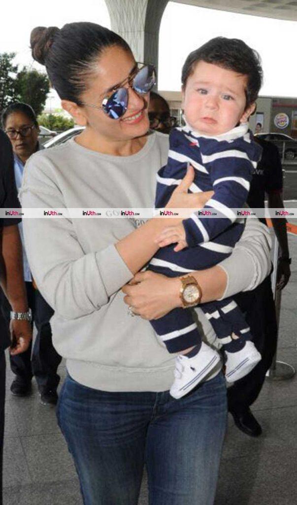 Kareena Kapoor and son Taimur leave for Veere Di Wedding