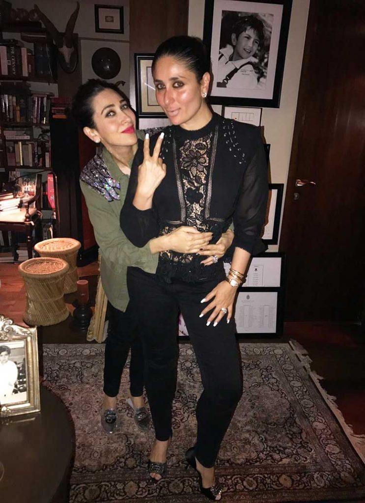 Karishma Kapoor bonds with sister Kareena Kapoor at Saif Ali Khan's birthday party