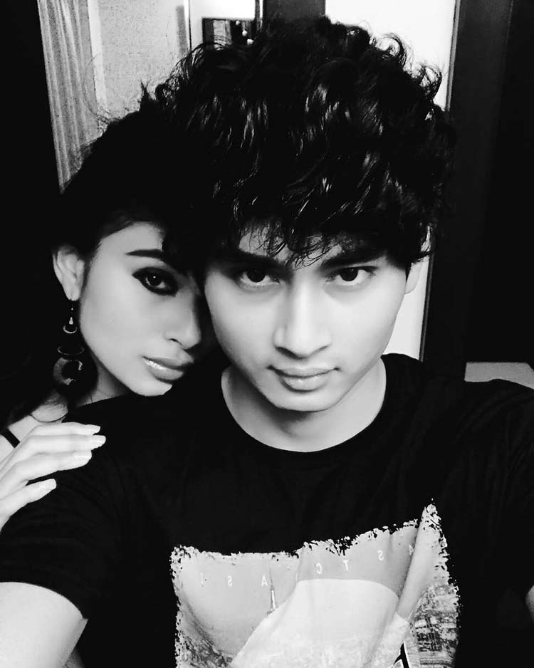 Mouni Roy's photo with brother from her personal album